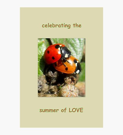 Celebrating the summer of LOVE Photographic Print