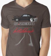 Black Hatchback Men's V-Neck T-Shirt