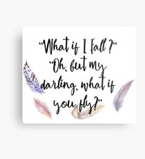 What if you fly? Feather whimsy. Metal Print