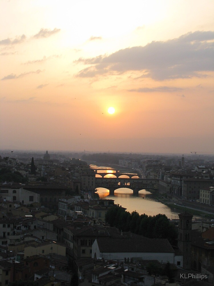 Sunset over Florence by KLPhillips