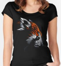 Tribal Red Panda Women's Fitted Scoop T-Shirt