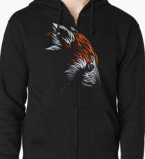 Tribal Red Panda Zipped Hoodie
