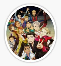 Yuri on Ice Characters  Sticker