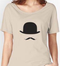 bowler hat Poirot Women's Relaxed Fit T-Shirt