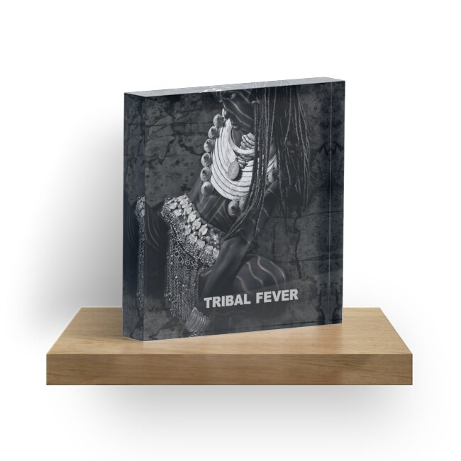 Tribal Fever - Acrylic Block by Glen Allison