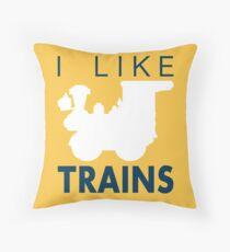 Rail King, I like trains Throw Pillow