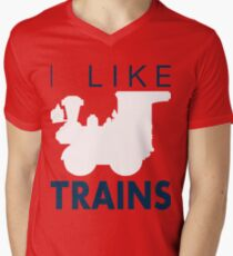 Rail King, I like trains Men's V-Neck T-Shirt