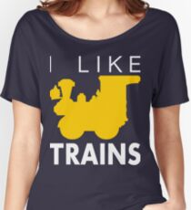 Rail King, I like trains Women's Relaxed Fit T-Shirt