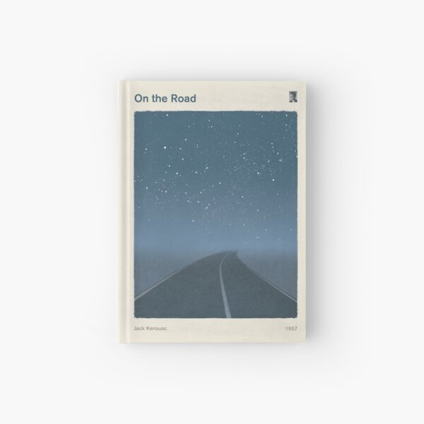 On the Road, Jack Kerouac Literary Art for Readers and Writers. Hardcover Journal