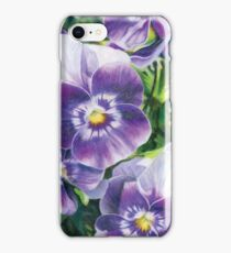 Purple and White Pansies iPhone Case/Skin