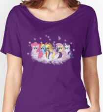 Pony Cloud Line Up Women's Relaxed Fit T-Shirt