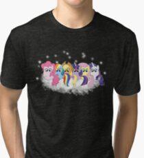 Pony Cloud Line Up Tri-blend T-Shirt