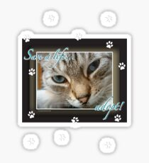 Save a Life... Adopt: The New Golden Rule Sticker
