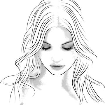 Face woman by juldie