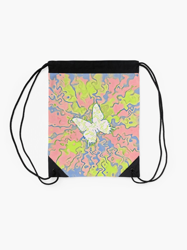 Alternate view of Butterfly Drawstring Bag