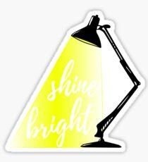 Shine bright Tischlampe Kalligrafie Sticker