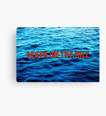 Death On The Nile Title Credits Canvas Print