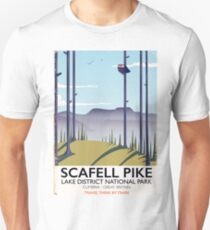 Scafell Pike, Cumbria, Vintage travel poster Unisex T-Shirt