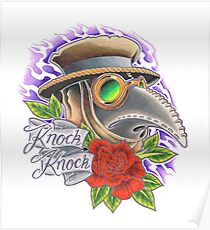 Plague Doctor Comes a Knockin' Poster