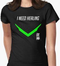 Genji Green I Need Healing Womens Fitted T-Shirt