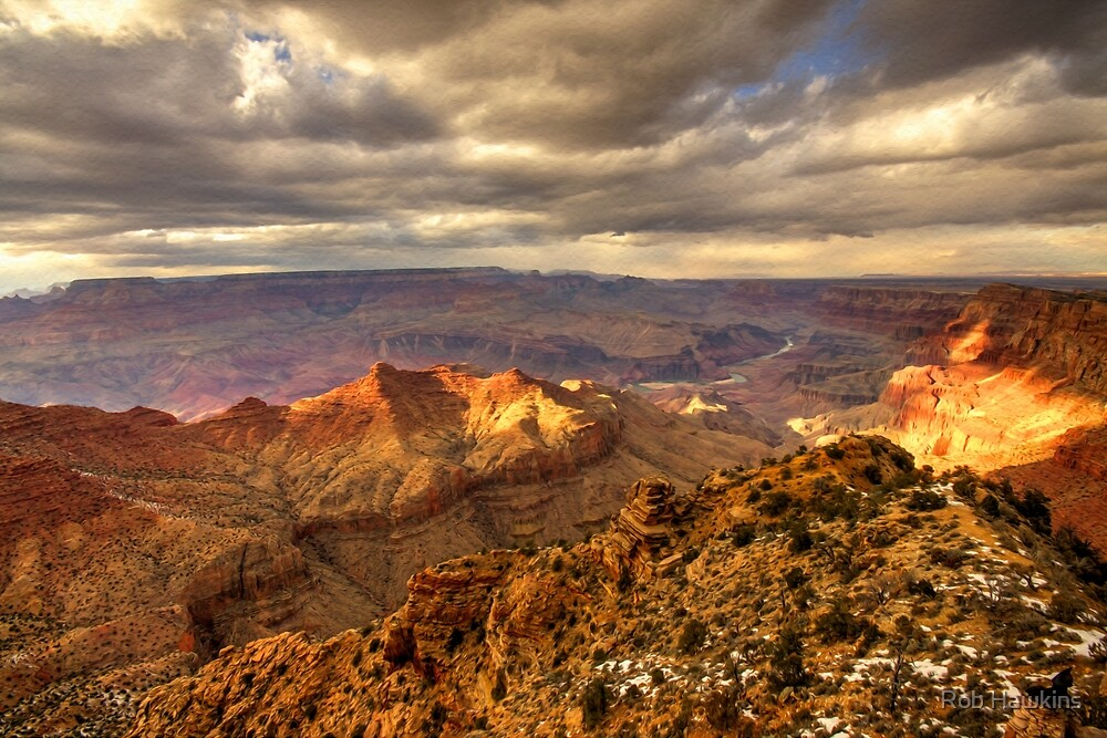 Grand Canyon vista  by Rob Hawkins