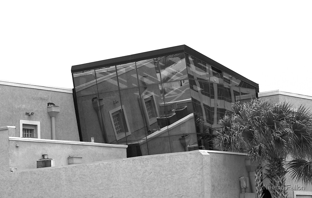 Glass Building - Black & White by Neema Fallon