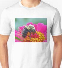 Bumble Bee on my Zinnia T-Shirt