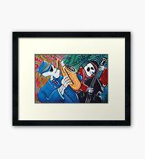 The Bad Blues Bone Band Framed Print