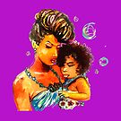 Natural Hair Flawless Curls Mother Daughter by EllenDaisyShop
