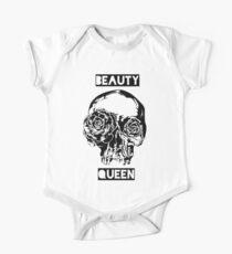 Beauty Queen Succulent Skull One Piece - Short Sleeve