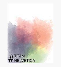 Team Helvetica Photographic Print