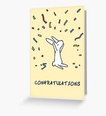 Rabbit Congratulations Greeting Card
