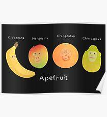 Apefruit (black) Poster