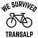 We Survived Transalp (Alps / Racing Bike / Black) by MrFaulbaum