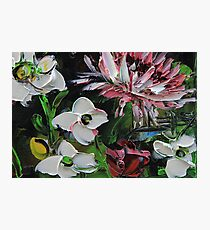 Floral Spring Colorful Oil Painting Photographic Print