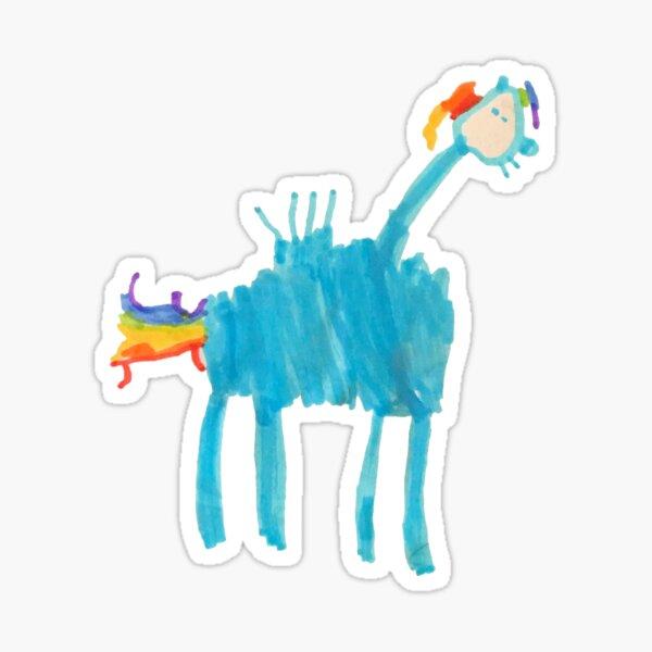 Rainbow Dash Drawing by Iggy Sticker