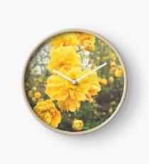 Double Flower Japanese Rose Clock