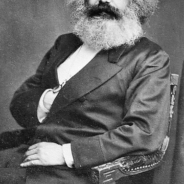 MARX, MARXISM, Karl Marx, Portrait, and Signature by TOMSREDBUBBLE