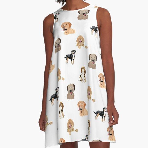Dog Pattern A-Line Dress