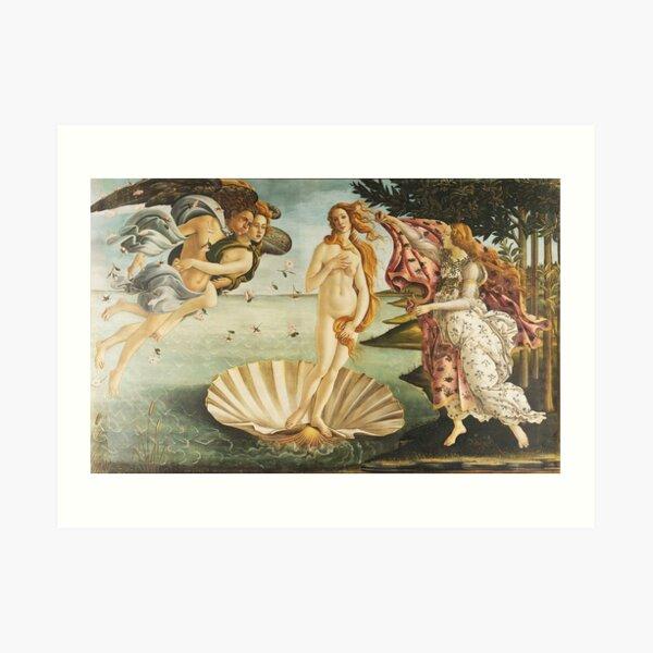 VENUS. The Birth of Venus, 1486, Sandro Botticelli. Art Print