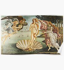 VENUS, The Birth of Venus, 1486, Sandro Botticelli Poster