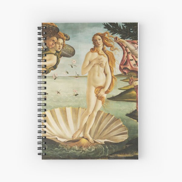 VENUS. The Birth of Venus, 1486, Sandro Botticelli. Spiral Notebook