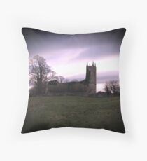 CHURCH ON THE HILL Throw Pillow