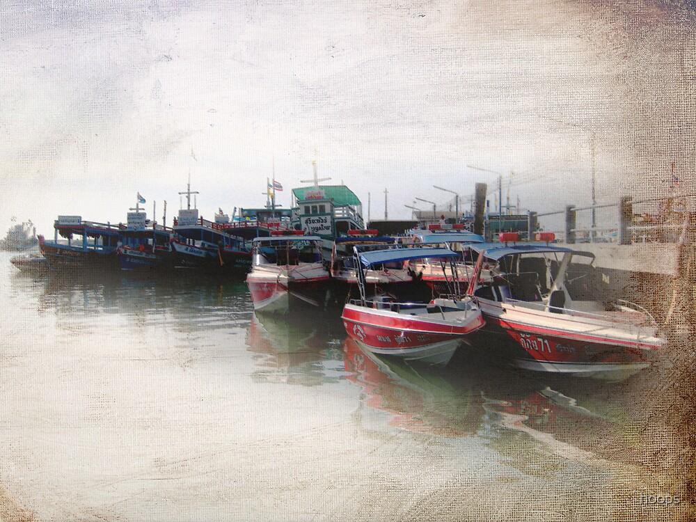 Fishing village by hoops