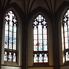 Dreikonigsgemeinde Church Stained Glass Windows - Frankfurt Germany by RosevineCottage