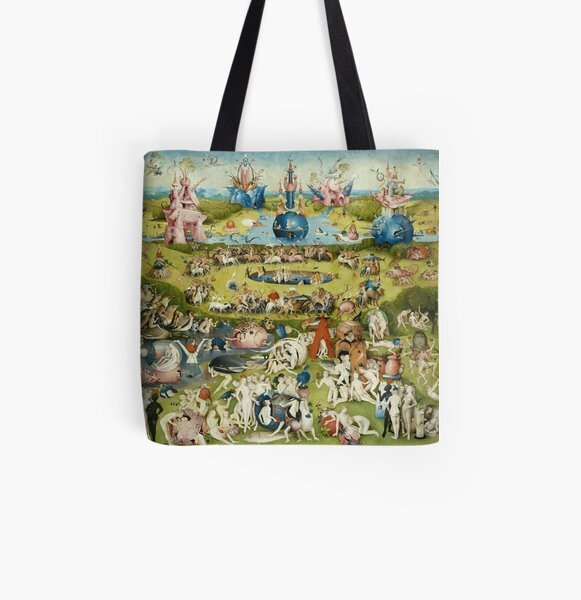 The Garden of Earthly Delights Full Image All Over Print Tote Bag