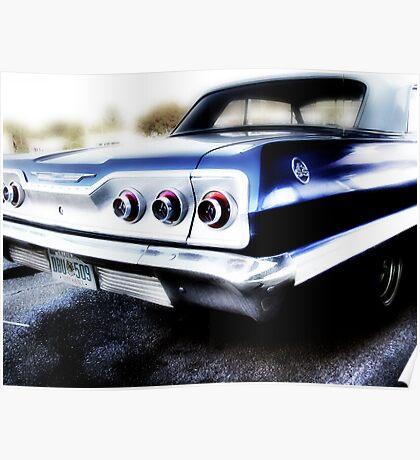chevy impala, route 66, tulsa, oklahoma Poster