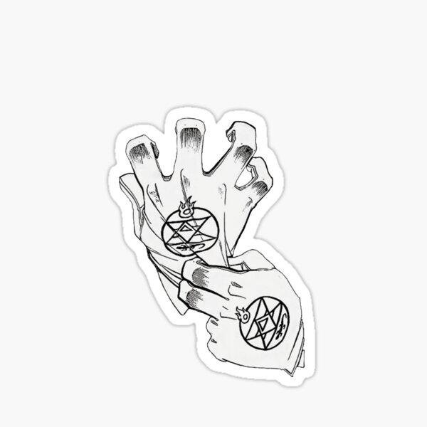 Fullmetal Alchemist - Mustang Gloves Sticker