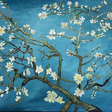 Van Gogh art, Blossoming Almond Tree, acrylic reproduction by naturematters