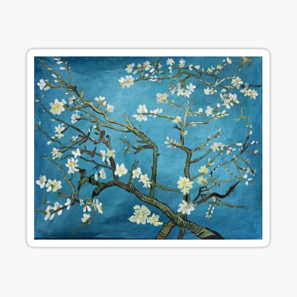 Van Gogh art, Blossoming Almond Tree, acrylic reproduction Sticker
